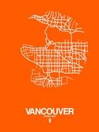 Vancouver Street Map Orange
