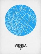 Vienna Street Map Blue