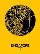 Singapore Street Map Yellow