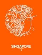 Singapore Street Map Orange