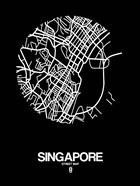 Singapore Street Map Black
