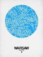 Warsaw Street Map Blue