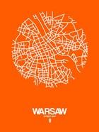 Warsaw Street Map Orange
