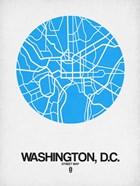 Washington DC Street Map Blue