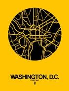 Washington DC  Street Map Yellow