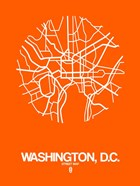 Washington DC  Street Map Orange