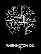 Washington DC  Street Map Black