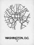 Washington DC  Street Map White