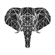 Black Elephant Polygon