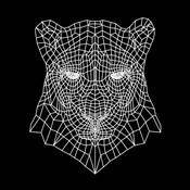 Panther Head Black Mesh