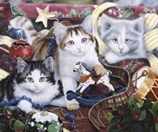 Christmas Kittens And All The Trim'Ns