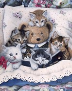 Kittens And Teddy Bear