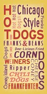 Hot Dogs Words