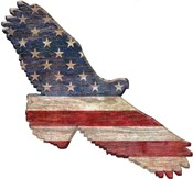 American Flag Eagle Cut Out Flat