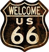Route 66 Distressed Welcome
