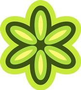 Mod Flowers Cut out Green