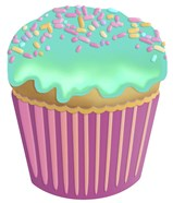 Vanilla Cupcake Blue