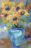 Sunflowers With Light Blue