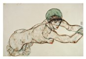 Reclining Female Nude with Green Cap, Leaning to the Right, 1914