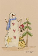 Snowman With Cat