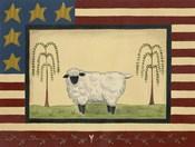 Sheep With Flag Border