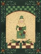 Green Antique Santa