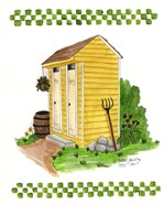 Yellow Double Outhouse