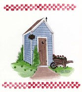 Outhouse With Wheelbarrow