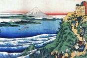 Snow on Mount Fuji, Porters Climb Uphill.