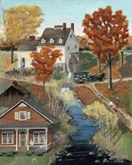 Grist Mill In Fall