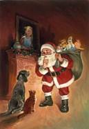Santa And Family Pets