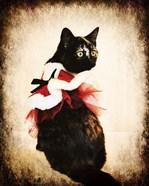 Vintage Christmas Kitten