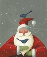 Santa with Bluebirds