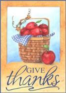 Give Thanks Apple Basket