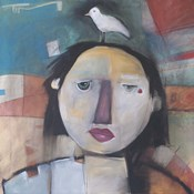 Girl With Dove On Head
