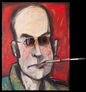 Hunter S Thompson With Cig Black