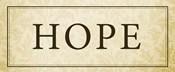 Hope Plaque