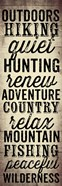 Hunting and Fishing Typography II