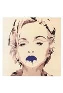 Madonna Pop Art Blue Lips