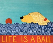 Life Is A Ball Gold Golden