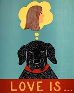 Love Is Dog Girl Black
