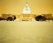 US Capitol Building during Snow Storm, Washington DC