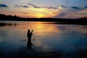 Fly Fisherman, Mauthe Lake, Kettle Moraine State Forest