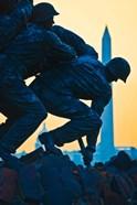 Iwo Jima Memorial at Dusk, Arlington National Cemetery, Arlington, Virginia
