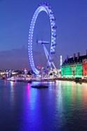 Millennium Wheel, London County Hall, Thames River, London, England