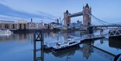 St. Katharine Pier and Tower Bridge, Thames River, London, England