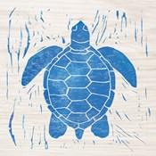 Sea Creature Turtle Blue