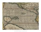 Antique World Map Grid IV
