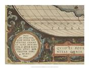 Antique World Map Grid VII