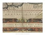 Antique World Map Grid VIII